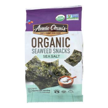 Annie Chun's Seaweed Snack - Sea Salt - Case Of 12 - .35 Oz.