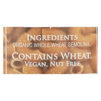 Delallo - 100% Organic Whole Wheat #52 Elbows - Case Of 16 - 1 Lb.