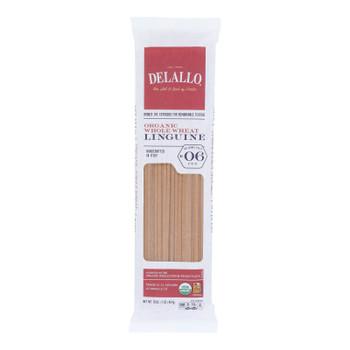 Delallo - Organic Whole Wheat Linguine Pasta - Case Of 16 - 1 Lb.
