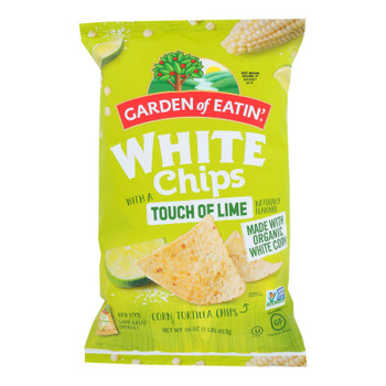 Garden Of Eatin' Tortilla Chips - White Corn Chips With Lime - Case Of 12 - 16 Oz.