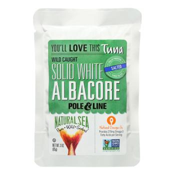Natural Sea Wild Albacore Tuna Pouch, Salted, Solid White - 1 Each 1 - 3 Oz