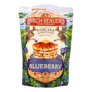 Birch Benders Pancake And Waffle Mix - Blueberry - Case Of 6 - 14 Oz.