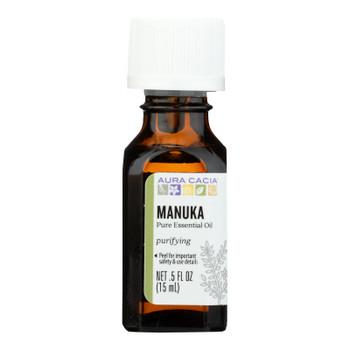 Aura Cacia - Essential Oil - Manuka - Case Of 1 - .50 Fl Oz.
