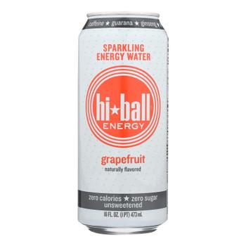 Hi Ball Energy Sparkling Energy Water - Grapefruit - Case Of 1 - 8/16 Fl Oz.