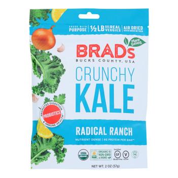 Brad's Plant Based - Crunchy Kale - Radical Ranch - Case Of 12 - 2 Oz.