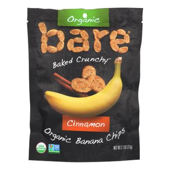 Bare Fruit Banana Chips - Cinnamon Banana - Case Of 12 - 2.7 Oz.