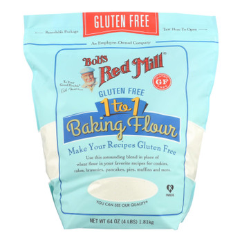 Bob's Red Mill - Baking Flour 1 To 1 - Case Of 4-64 Oz