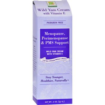 At Last Naturals Wild Yam Cream With Vitamin E - 2 Oz.