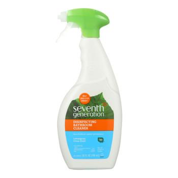 Seventh Generation Disinfecting Bathroom Cleaner - Lemongrass Thyme - Case Of 8 - 26 Fl Oz.