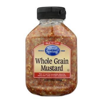 Silver Spring Mustard - Whole Grain - Case Of 9 - 9.25 Oz