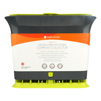 Full Circle Home - Fresh Air Counter Compost Collector - Green - Case Of 4 - Count