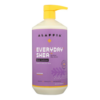 Alaffia - Everyday Lotion - Lavender - 32 Oz.