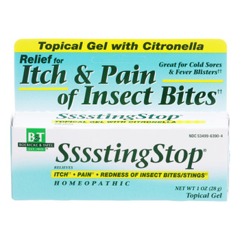 Boericke And Tafel - Sssstingstop Topical Gel - With Citronella - 1 Oz.