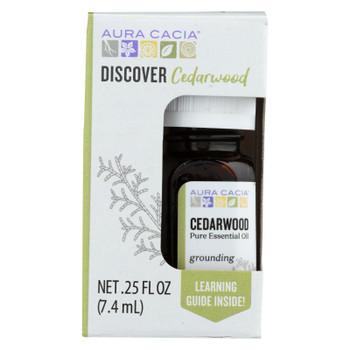 Aura Cacia - Discover Essential Oil - Cedarwood - Case Of 3-.25 Fl Oz.