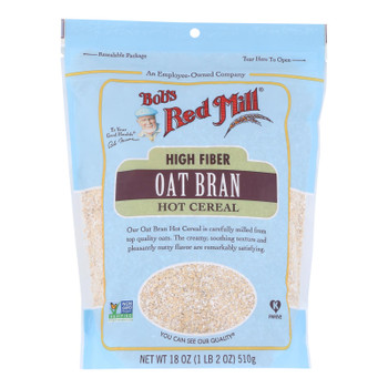 Bob's Red Mill - Oat Bran Hot Cereal - Case Of 4-18 Oz.