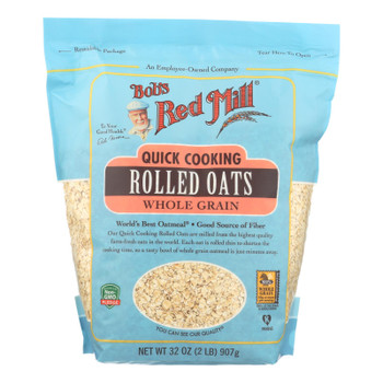Bob's Red Mill - Quick Cooking Rolled Oats - Case Of 4-32 Oz.
