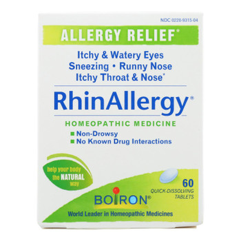 Boiron - Rhinallergy Allergy Relief - 60 Tablets