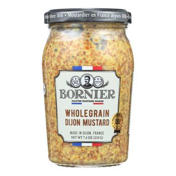Bornier - Mustard - Whole Grain - Case Of 6 - 7.4 Oz.