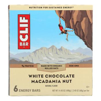 Clif Bar - Energy Bar - White Chocolate Macadamia Nut - Case Of 9 - 6/2.4oz.
