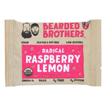 Bearded Brothers - Energy Bar - Radical Raspberry Lemon - Case Of 12 - 1.52 Oz.