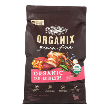 Castor And Pollux - Organix Grain Free Dry Dog Food - Small Breed Recipe - Cs Of 1-10 Lb.