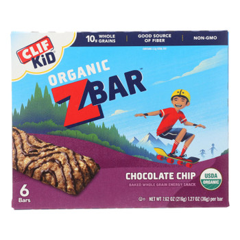 Clif Kid Zbar - Organic Zbar - Chocolate Chip - Case Of 9 - 7.62 Oz.
