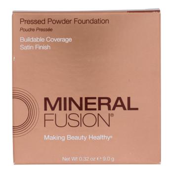 Mineral Fusion - Pressed Powder Foundation - Deep 3 - 0.32 Oz.