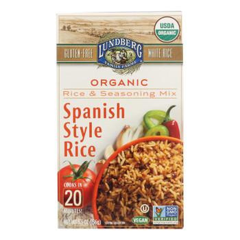 Lundberg Family Farms - Rice And Seasoning Mix - Spanish Style - Case Of 6 - 5.50 Oz.