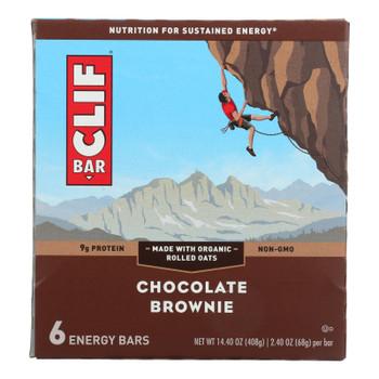 Clif Bar - Energy Bar - Chocolate Brownie - Case Of 6 - 6/2.4 Oz.
