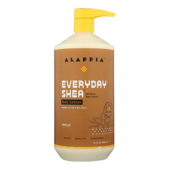 Alaffia - Everyday Lotion - Shea Vanilla - 32 Oz.