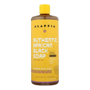 Alaffia - African Black Soap - Lavender Ylang Ylang - 32 Fl Oz.