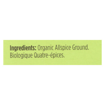 Spicely Organics - Organic Allspice - Ground - Case Of 6 - 0.45 Oz.