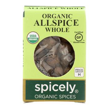 Spicely Organics - Organic Allspice - Whole - Case Of 6 - 0.3 Oz.