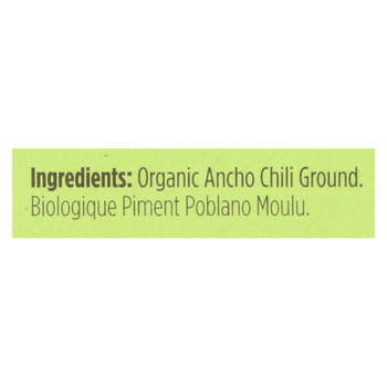 Spicely Organics - Organic Ancho Chili - Ground - Case Of 6 - 0.45 Oz.