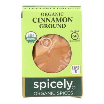 Spicely Organics - Organic Cinnamon - Ground - Case Of 6 - 0.45 Oz.