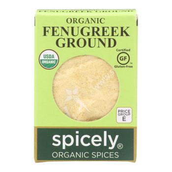 Spicely Organics - Organic Fenugreek - Ground - Case Of 6 - 0.45 Oz.