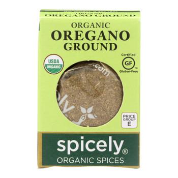 Spicely Organics - Organic Oregano - Ground - Case Of 6 - 0.3 Oz.