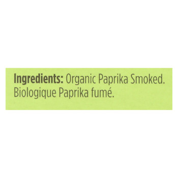 Spicely Organics - Organic Paprika - Smoked - Case Of 6 - 0.45 Oz.
