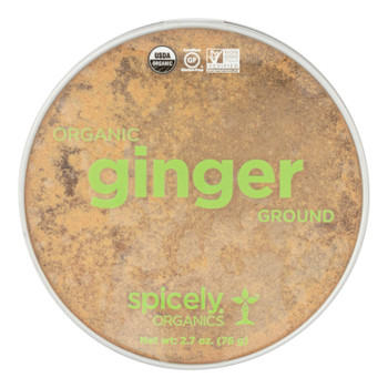 Spicely Organics - Organic Ginger - Ground - Case Of 2 - 2.7 Oz.