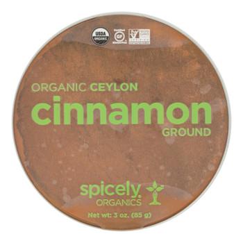 Spicely Organics - Organic Ground Cinnamon - Case Of 2 - 3 Oz.