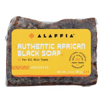 Alaffia - African Black Soap - Unscented - 3 Oz.