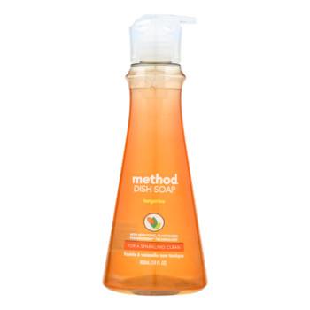 Method - Dish Soap Pump - Tangerine - Case Of 6 - 18 Fl Oz.