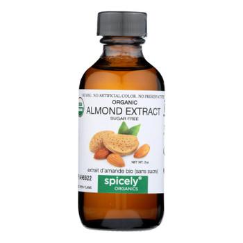 Spicely Organics - Organic Extract - Almond - Case  Of 6 - 2 Fl Oz.