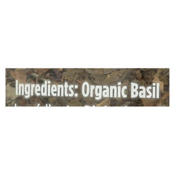 Spicely Organics - Organic Basil - Case Of 3 - 0.5 Oz.