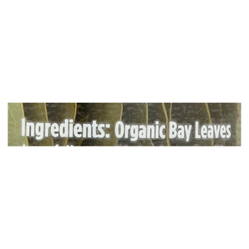 Spicely Organics - Organic Bay Leaves - Case Of 3 - 0.09 Oz.