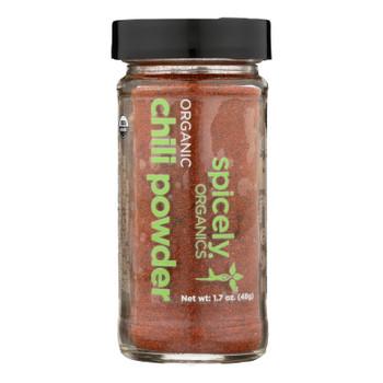 Spicely Organics - Organic Chili - Powder - Case Of 3 - 1.7 Oz.