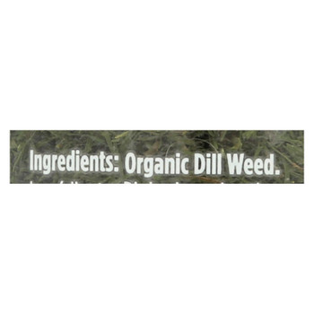 Spicely Organics - Organic Dill Weed - Case Of 3 - 0.6 Oz.