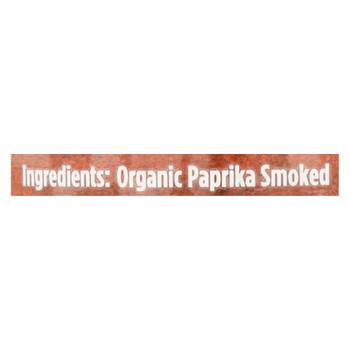 Spicely Organics - Organic Paprika - Smoked - Case Of 3 - 1.7 Oz.