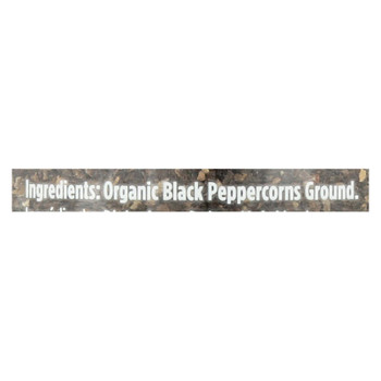 Spicely Organics - Organic Peppercorn - Black Ground - Case Of 3 - 1.7 Oz.
