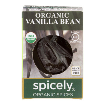 Spicely Organics - Organic Vanilla Bean - Case Of 6 - 0.2 Oz.
